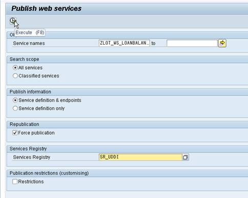 Publish Web Service