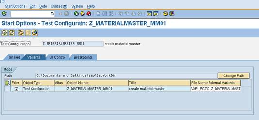 eCATT test configuration7 SAP eCATT Step by Step Guide