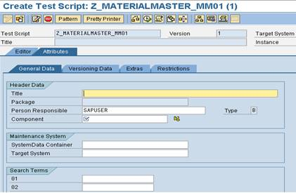 eCATT test script SAP eCATT Step by Step Guide
