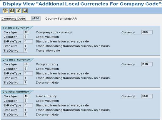 sap local currency