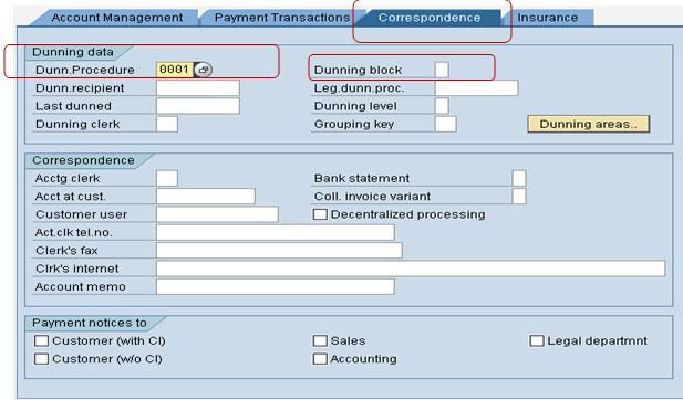 SAP Dunning process SAP FI Dunning Process and Configuration